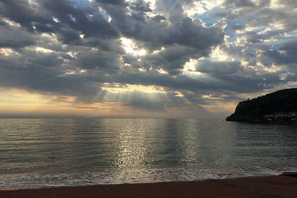 Moody sky over Babbacombe Bay